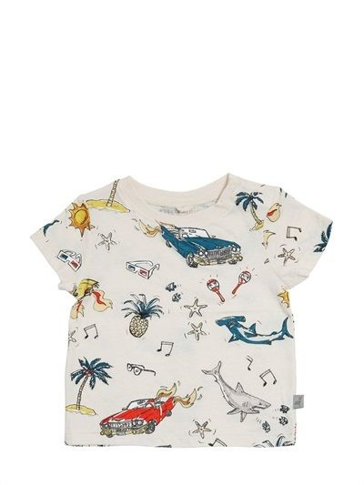 Stella McCartney Shark Printed Organic Cotton T-Shirt on shopstyle.co.uk