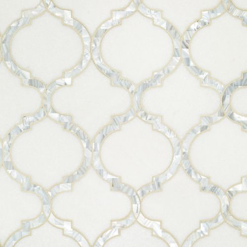 Toledo custom with White Rivershell Welcome to Artistic Tile