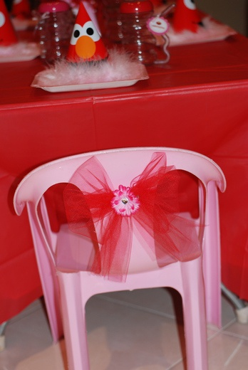 This would be cute even on her high chair or somewhere she will sit to open presies if you choose to do that at her birthday this year