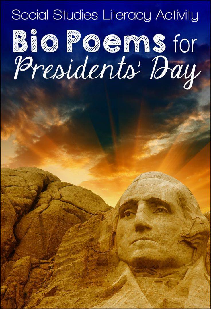 Presidents Day is celebrated in February, so it's the perfect time to have your students write President Bio Poems! This free lesson is also a great way to sneak a little research and creative writing into your social studies curriculum.