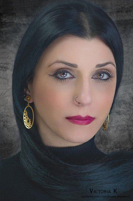 Greek Jewelry, Gold plated earrings, Bridal Jewelry, Contemporary jewelry, dangle drop earrings, Historical jewelry