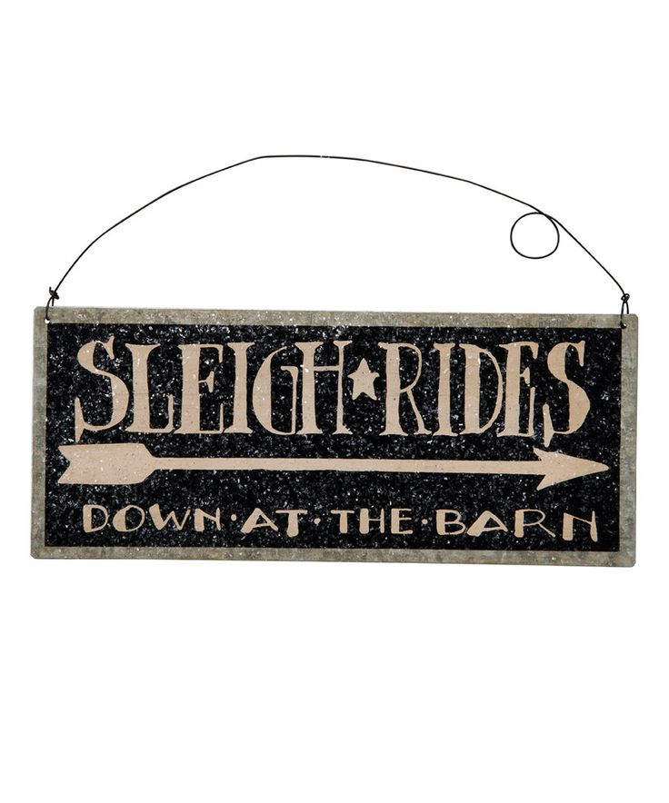 Look at this 'Sleigh Rides' Tin Wall Plaque on #zulily today!