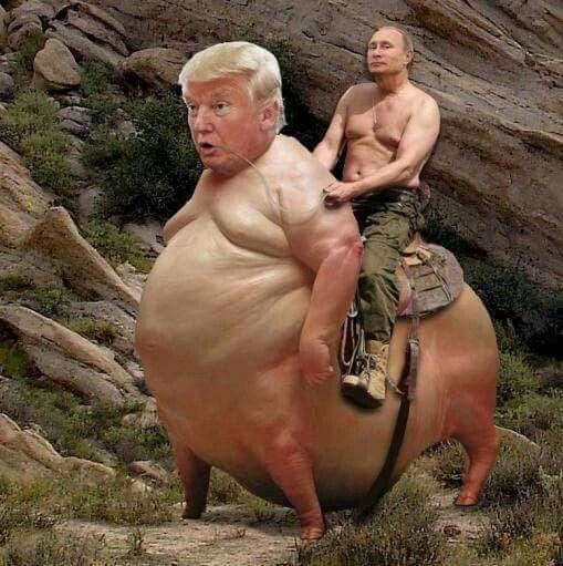 Putin riding Trump like a rancor!