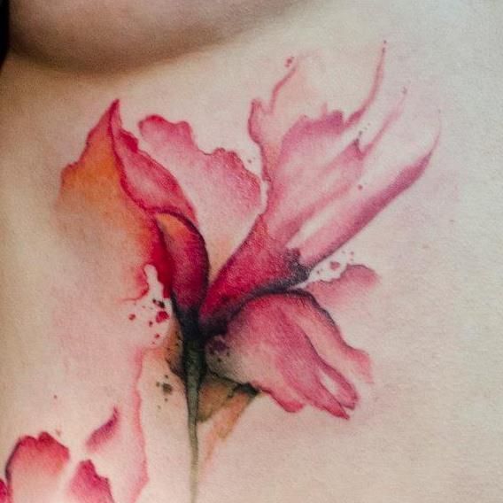 Great watercolour tattoo.