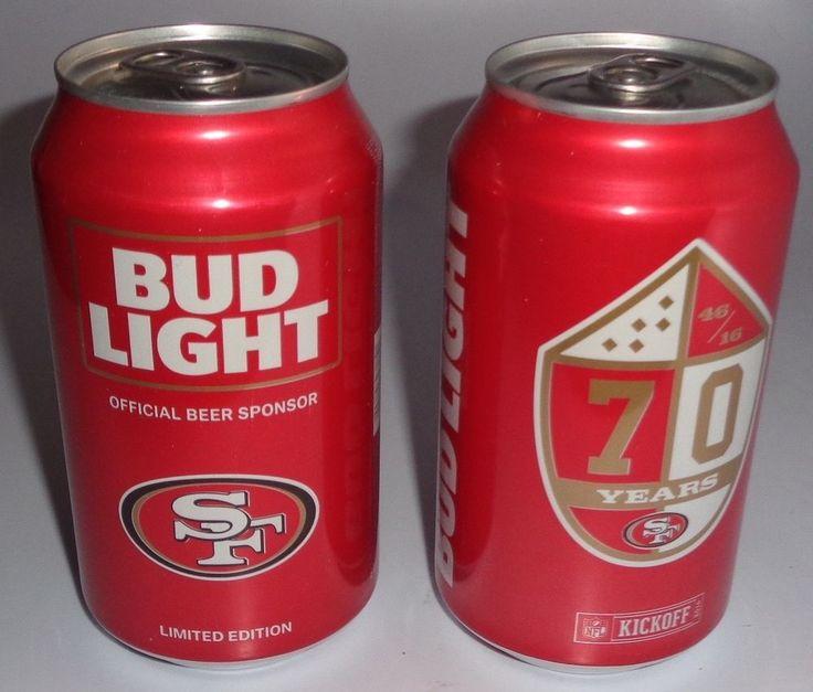 SAN FRANCISCO 49ERS  (2) BUD LIGHT BEER CANS KICKOFF 2016 (FULL)