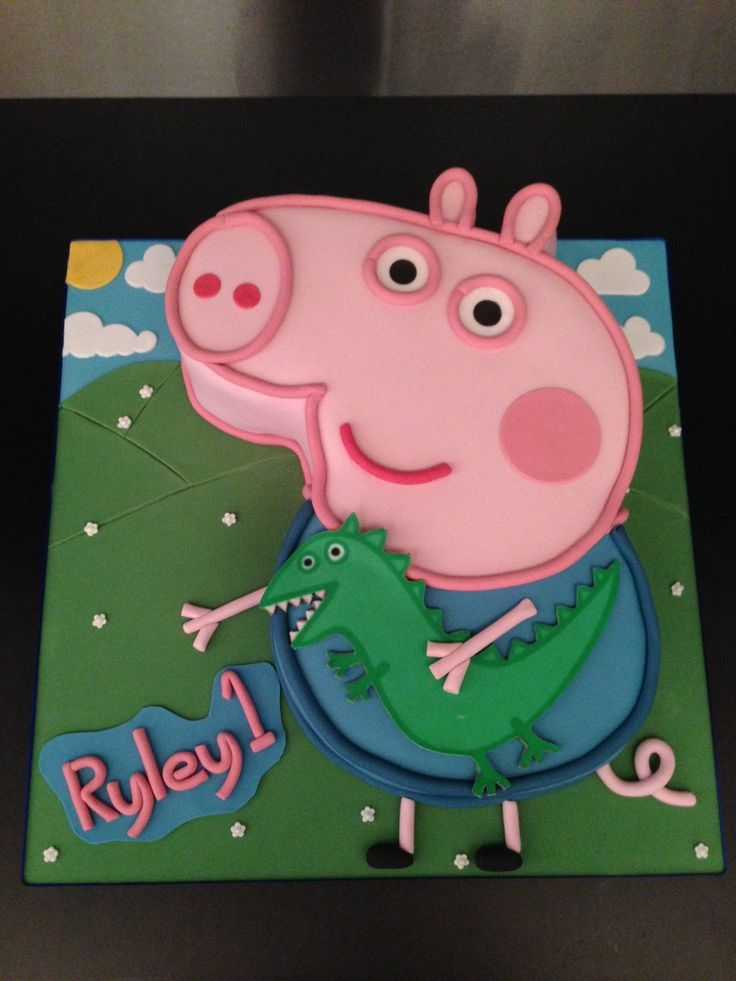peppa pig cake template free - 15 best ideas about george pig cake on pinterest peppa