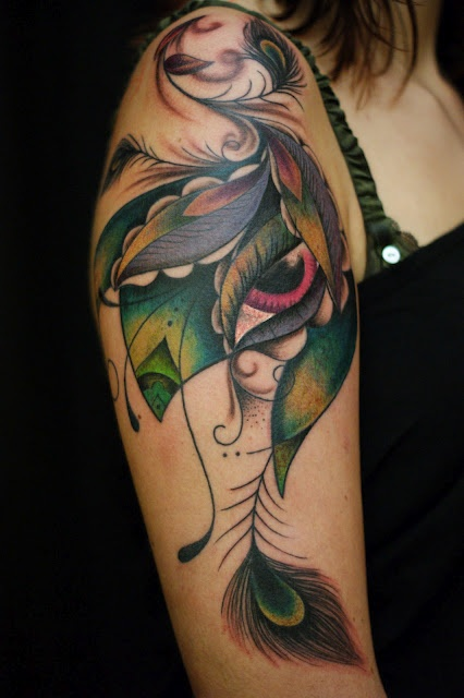 peacock by dodie #arm #tattoos