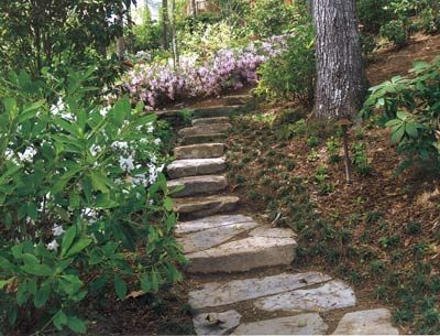 Woodland Garden Design find this pin and more on gardens landscaping Shadescaping Beautiful Fieldstone Stepping Stones Lead Through This Native Woodland Garden Native Woodland Landscape