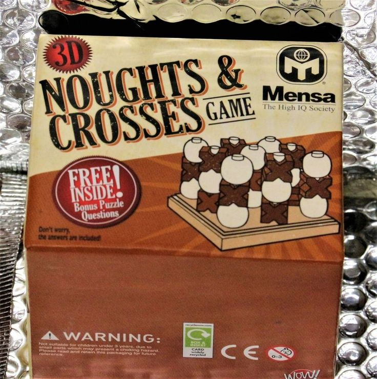 Noughts And Crosses - Classic 3D Noughts And Crosses-Jaques Of London game new