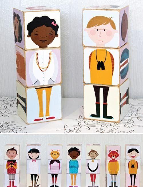 Estos cubos tan bonitos están hechos en casa! Mirad que plantillas más bonitas hemos encontrado en Ollibird, son productos de descarga digitales que permiten crear juguetes divertidos y educativos para nuestros hijos. Han juntado ilustraciones de niñas, niños y animales para poderlas mezclar y combinar! Los han llamado Olliblocks. Una idea original y creativa convertida en un educativo juguete, una manualidad hecha en casa que da mucho juego. Tienen muchos modelos distintos para escoger…