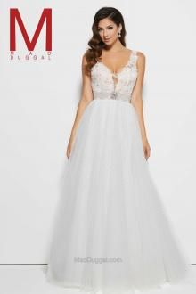 Feel enchanting with the Spring 2016 Mac Duggal Prom Dress Collections.   White Prom Dress Style 10100M