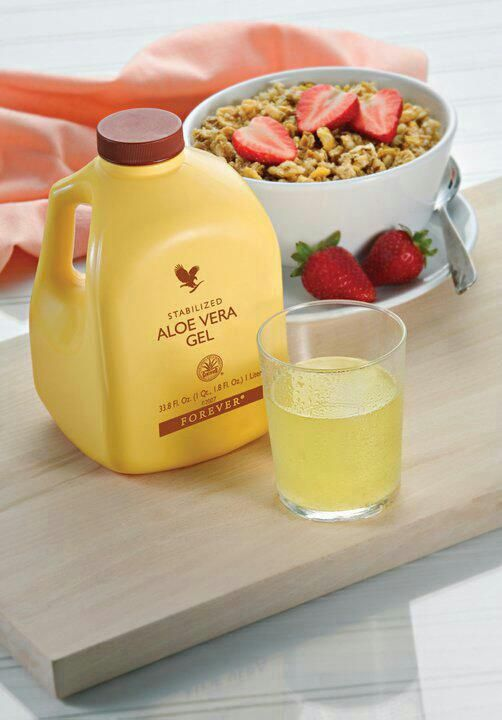 Forever Aloe Vera Gel Drink it and feel the difference!