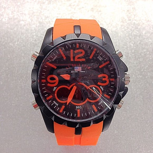 Orange U.S. Polo Watch New / Still has plastic cover on it U.S. Polo Accessories Watches