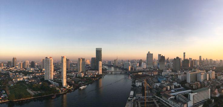 View from 36fl. on Chatrium riverside hotel, Bangkok