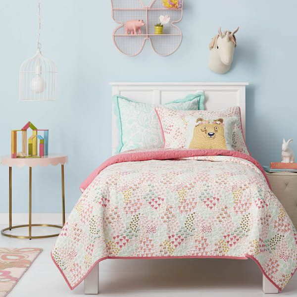Target does affordable kids' decor right with their new & very cool Pillowfort line. Love this Floral Field collection.