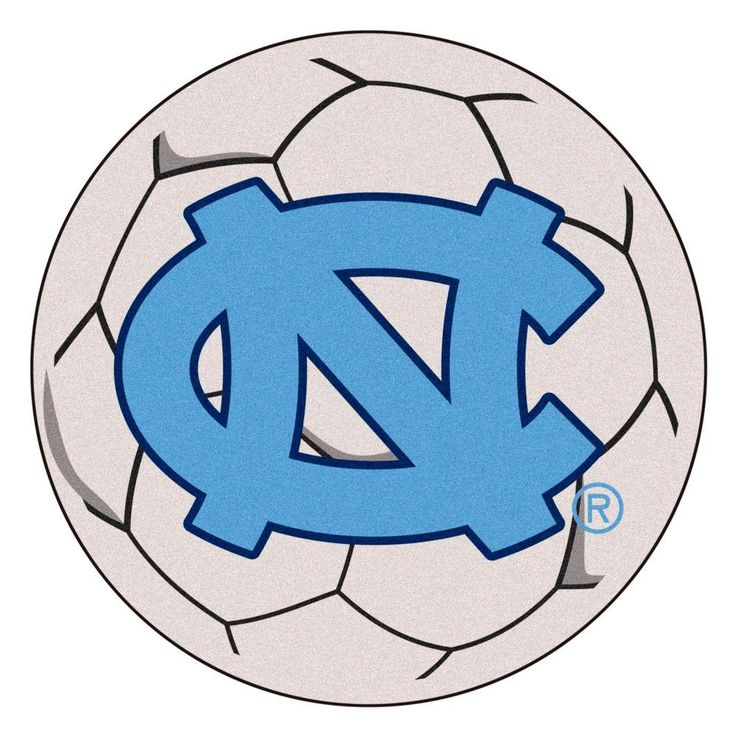 Ncaa University of North Carolina Chapel Hill NC Logo Cream (Ivory) 2 ft. 3 in. x 2 ft. 3 in. Round Accent Rug