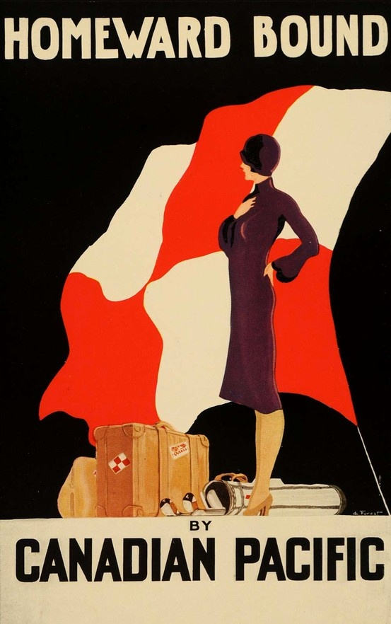 1933 Canadian Pacific Railway poster in the art deco style