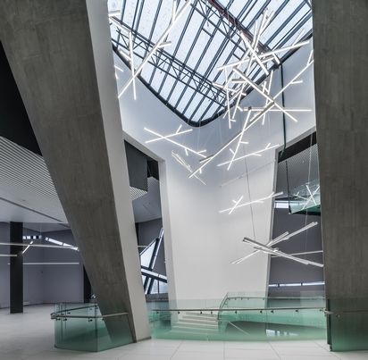 Interiors of SKA Hockey Club museum in a new sports complex