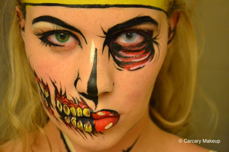 Halloween Look 4 - Pop Art Wonder Woman / Zombie (Sara Carcary Makeup)