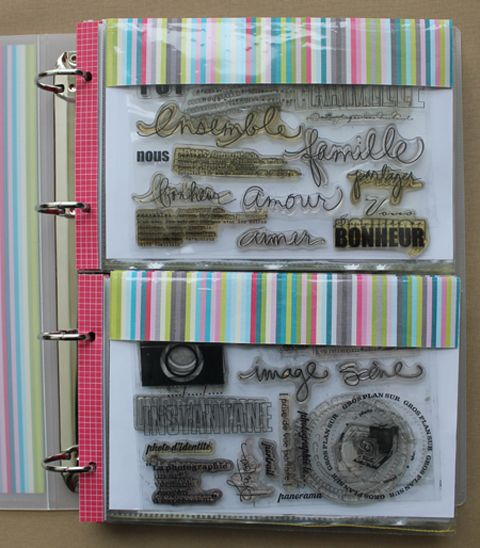 Clear Stamp Storage Binder 480 x 548