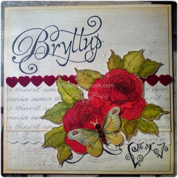 Amor Vincit Omnia.. Card Main motive: Beccy's Place 'Romantic Roses'. Info: http://tindaloo.blogspot.no/2014/09/amor-vincit-omnia.html