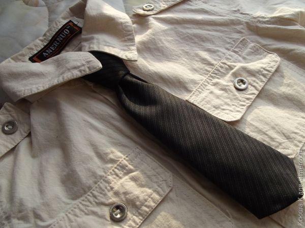 Детский галстук на резинке / Хенд мейд