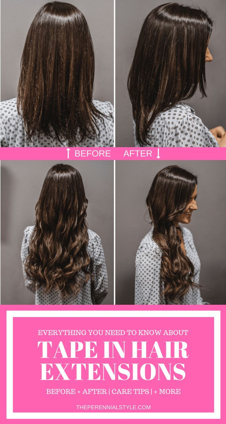 What To Know About Tape In Hair Extensions Before After