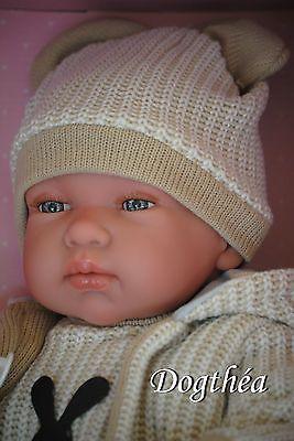 adorable bébé réaliste de 50 cm, articulé collection  reborn jouet  LLORENS 2016