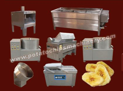 Automatic Plantain Chips Plant have Banana slicing machine,Banana washing machine,Banana slice blanching machine,Dehydrating machine,  Frying machine,De-oiling machine,Seasoning machine,ect. This Plant have Global advanced technology,better oil management, compact structure,low energy consumption and easy operation and perfect after-sales service. We have two capacities for this line: 60-70kg/h and100-150kg/h. If there is a need to gmail to us, address:info@amisymachine.com.