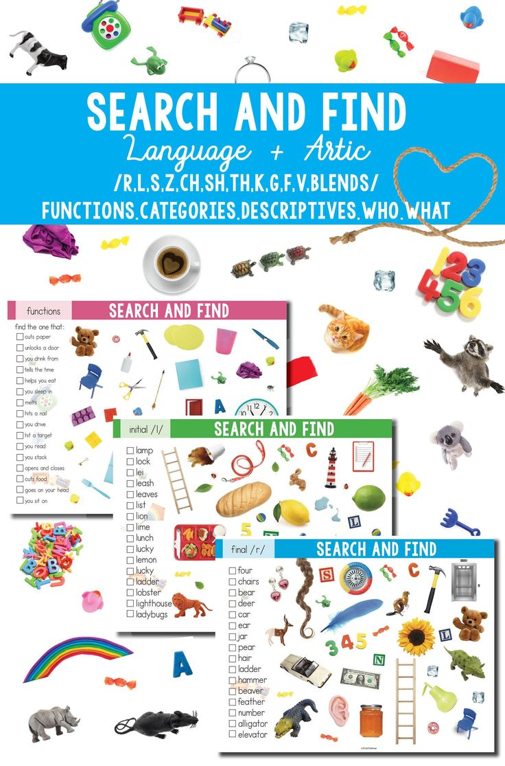 """I Spy"" Search and Find Language and Articulation for Speech Therapy"