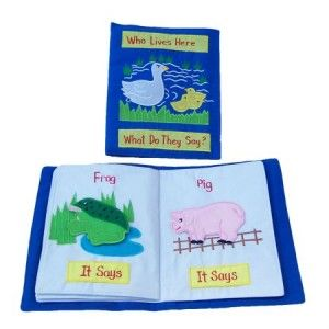 Who Lives Here Soft Book Bag - how cute, you can actually pull the animals out and play with them!!