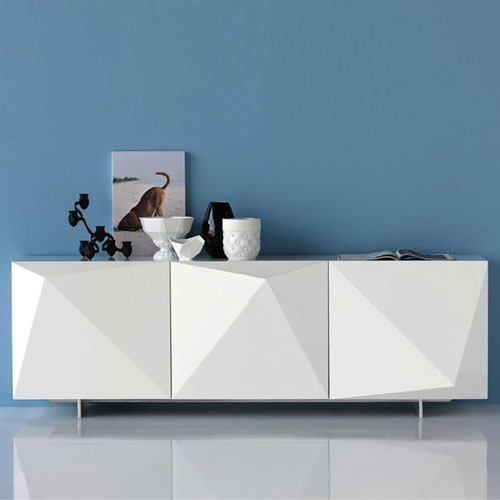 Via Spacify | Geometric White Sideboard