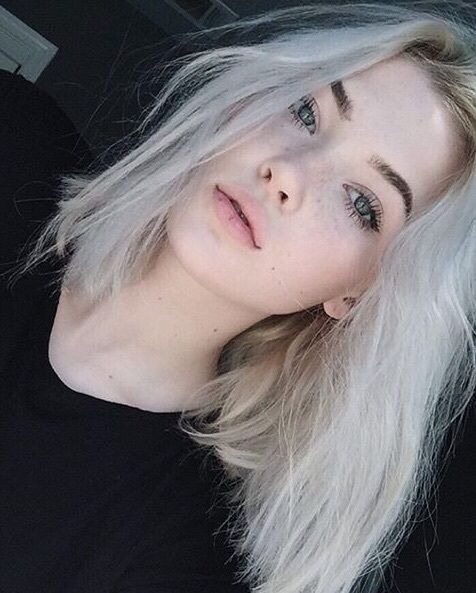 blonde, girl, and hair Bild