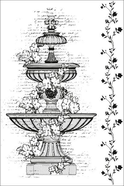 Fountain vintage obrázek fontánky