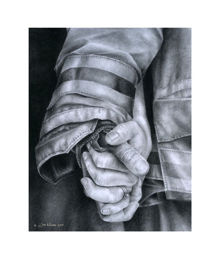 """""""Commitment"""" by Artist Jodie Monroe! Shows the emotional and lasting bond of marriage that exists between a firefighter and his wife!"""