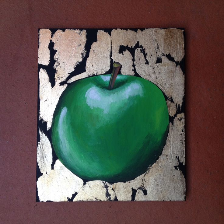 #golden #apple #painting by JRN