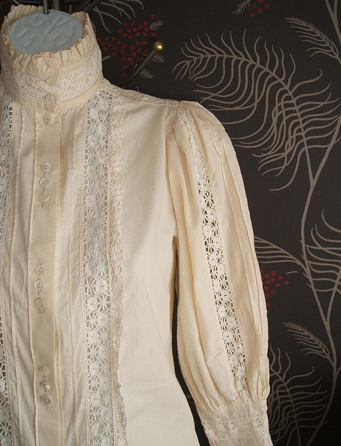 Laura Ashley Cotton Victorian inspired blouse.