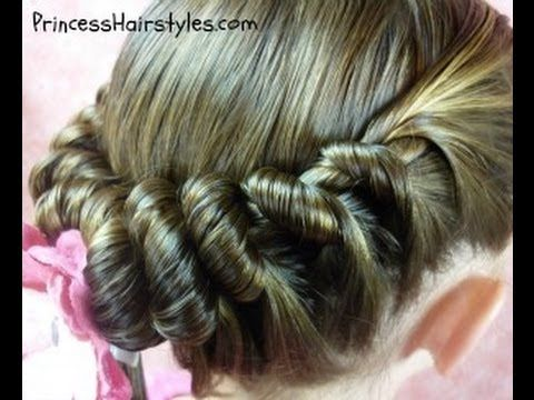 Spiral Braid Ponytail, Twist Hairstyles | Hairstyles For Girls - Princess Hairstyles