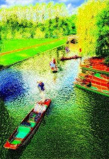 Malcolm Lane - Summer Punting on the Cam