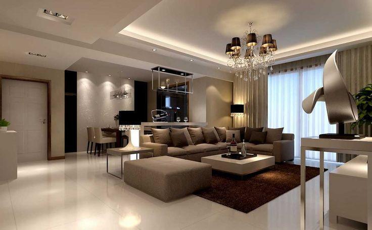 Illuminazione-soggiorno-moderno-combinata-con-il-design-tema ...