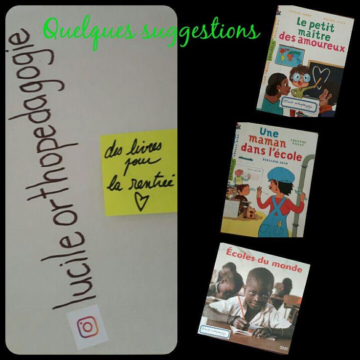 Voici trois suggestions de livres pour la rentrée scolaire. #livreprimaire #lire #rentreescolaire #litteraturejeunesse #albumjeunesse