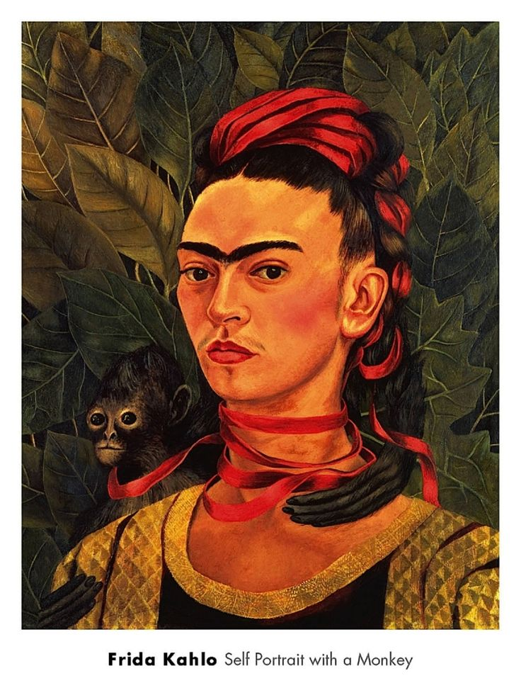 a portrait of frida kahlo Within the water, kahlo paints an alternative self-portrait, one in which the more traditional facial portrait has been replaced by an array of symbols and recurring motifs the artist includes portraits of her parents, a traditional tehuana dress, a perforated shell, a dead humming bird, two female lovers, a skeleton, a crumbling skyscraper, a.