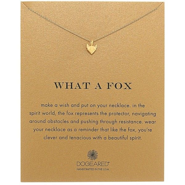 Dogeared What A Fox Reminder Necklace (Gold Dipped) Necklace (£47) ❤ liked on Polyvore featuring jewelry, necklaces, handcrafted jewellery, chains jewelry, handcrafted necklaces, chain pendants and chain necklace