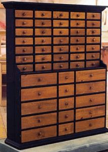 50 drawers. I wonder if they all have hand cut dove tails