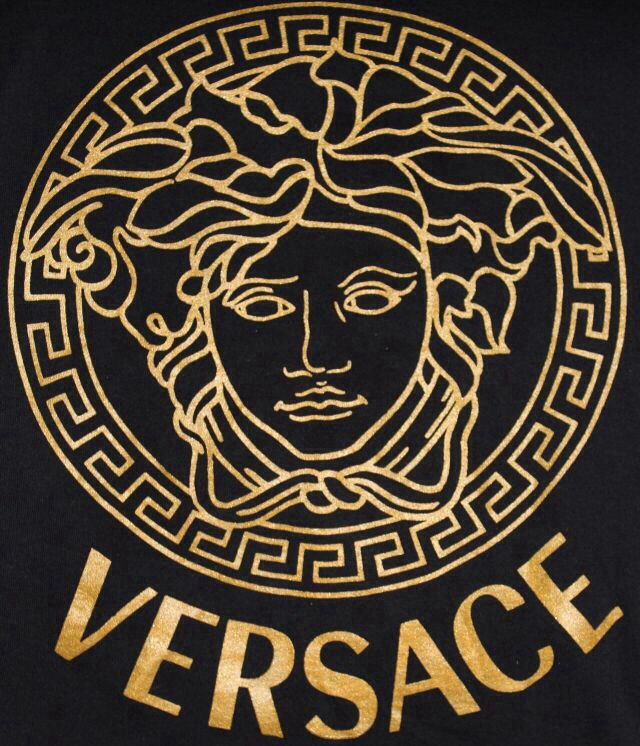 Logo versace gold