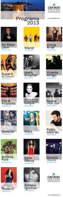 Descubre el programa del Festival de Cap Roig 2013