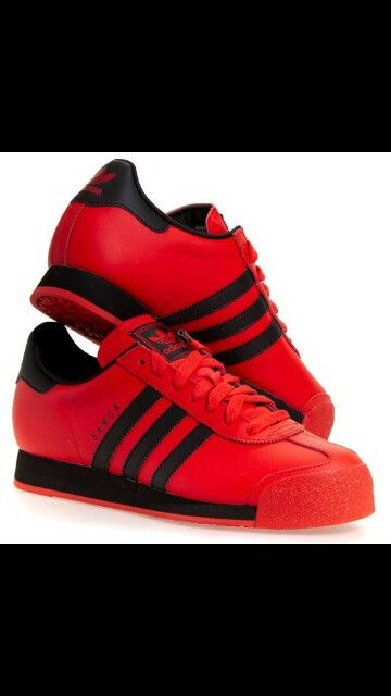 huge selection of b3d2d 99b7e Adidas Samoa Red n Black  Kicks  Pinterest  Adidas, Adidas sneakers and  Sneakers