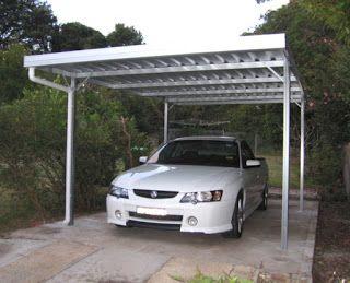 kanopi carport putih