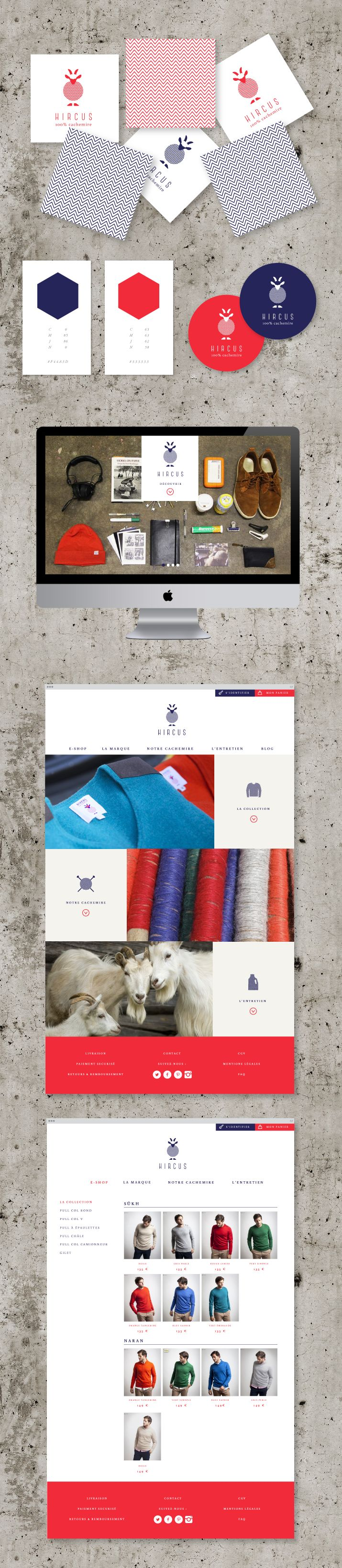 Identité visuelle et design de la marque Hircus #identity #design #graphic