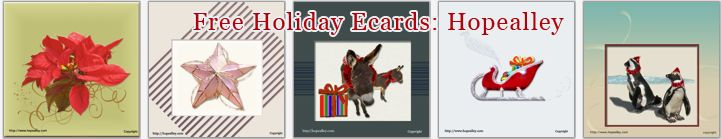 Free Holiday Ecards. HopeAlley